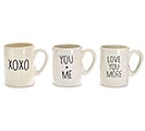 CERAMIC MUGS WITH ASSORTED LOVE MESSAGES