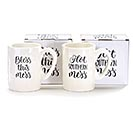 ASSORTED SOUTHERN MESSAGE CERAMIC MUGS