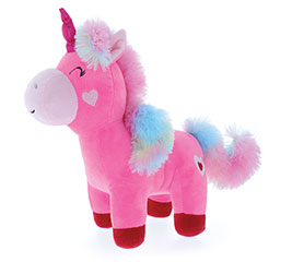 "11"" PINK UNICORN WITH RAINBOW MANE/TAIL"
