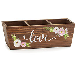 LOVE PLANTER WITH WATERCOLOR FLOWERS