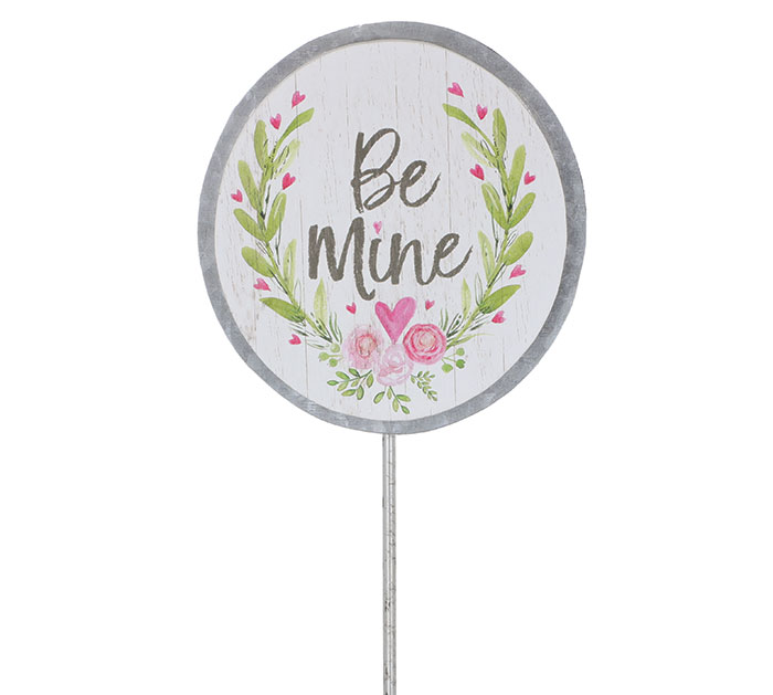 VALENTINE BE MINE PICK W/ FLORAL ACCENTS