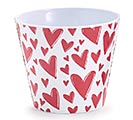 "4"" VALENTINE POT COVER WITH RED HEARTS"