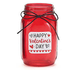 HAPPY VALENTINE'S DAY QUART MASON JAR