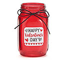 QUART MASON HAPPY VALENTINE'S DAY RED