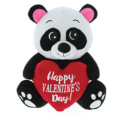 "9"" VALENTINE PANDA BEAR WITH HEART"