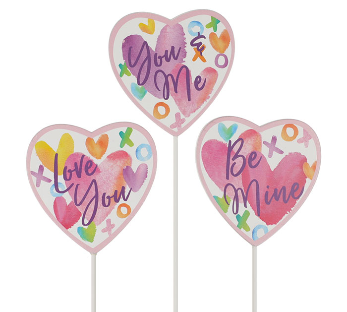 VALENTINE HEART PICK WITH MESSAGES