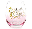 PINK OMBRE STEMLESS WINE GLASS