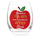 APPLES ALONE STEMLESS WINE GLASS