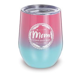 PINK/BLUE MOM WINE TUMBLER