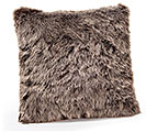 "15"" GRAY FUR PILLOW"