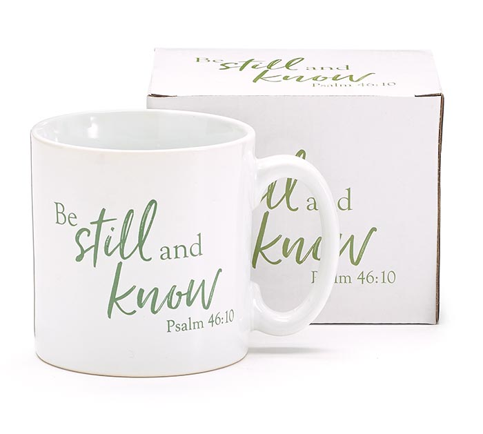 13OZ MUG BE STILL AND KNOW PSALM 46:10