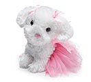 "PLUSH 9 1/2"" SITTING PUPPY PINK TUTU"