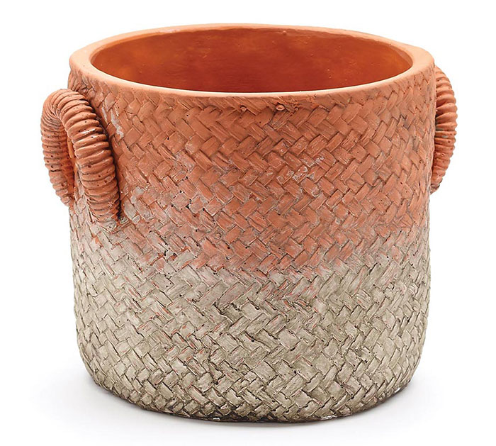 TERRACOTTA COLOR CONCRETE PLANTER