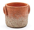 TERRACOTTA COLOR BASKET WEAVE PLANTER
