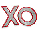 X O WOOD LETTERS WITH TIN