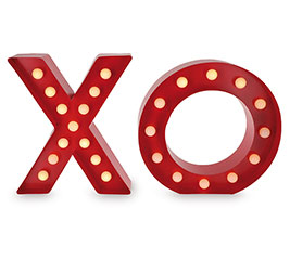 DECOR METAL X O WITH MARQUEE LIGHTS