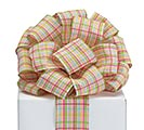 #40 SPRING PLAID WIRED RIBBON