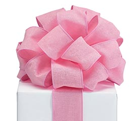 RIBBON #40 LIGHT PINK LINEN LIKE