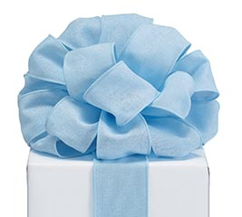 RIBBON #40 LT BLUE LINEN LIKE