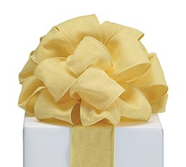 RIBBON #40 YELLOW LINEN LIKE