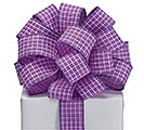 RIBBON #9 PURPLE WITH WHITE STITCHING