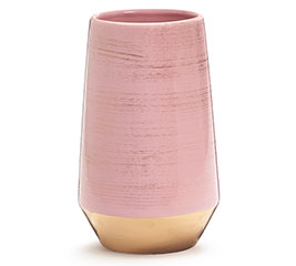 SOFT PINK WITH GOLD WASH ON VASE