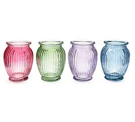 SPRING COLORED GLASS VASE