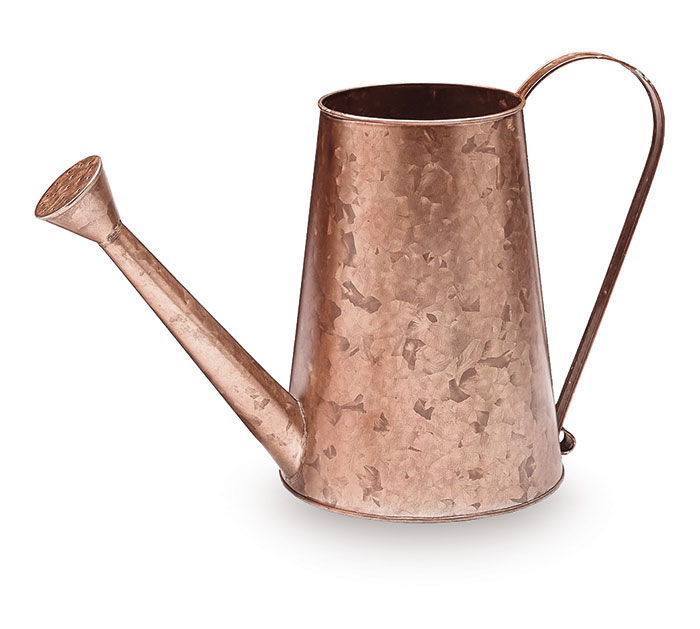 COPPER GALVANIZED TIN LG WATERING CAN