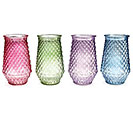 SPRING COLORED GLASS VASE