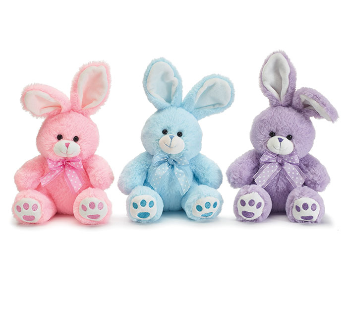 "10 1/2"" SITTING BUNNIES ASSORTED COLORS"