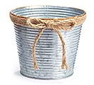RIBBED GALVANIZED TIN POT COVER