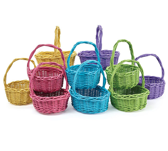BASKET SPRING SET WILLOW WITH HANDLES