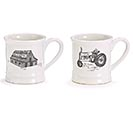 MUG FARM SWEET TRACTOR AND BARN ASTD