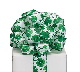 RIBBON #9 SHAMROCKS IN VARIED SIZES