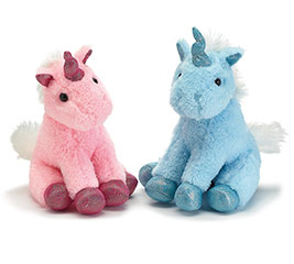 "7"" PINK AND BLUE UNICORNS IN DISPLAY BOX"