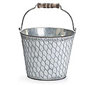 CHICKEN WIRE GALVANIZED TIN PAIL