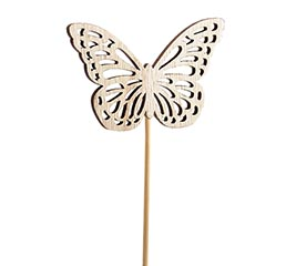 LASER CUT WOOD BUTTERFLY PICK