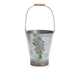 FLOWER BOUQUET TIN PAIL LARGE SIZE