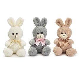 WHITE BEIGE AND GRAY BUNNY ASSORTMENT