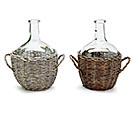 DECOR GLASS VASE WITH WICKER HOLDER