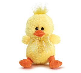 "5 1/2"" YELLOW DUCK PLUSH IN DISPLAY BOX"