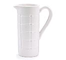 WHITE CHECK HANDMADE LOOKING PITCHER