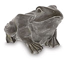GRAY STONE LOOKING FROG SHAPE FIGURINE