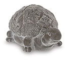 WHITEWASHED GRAY TURTLE FIGURINE