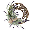 "19"" PURPLE LAVENDER WREATH"