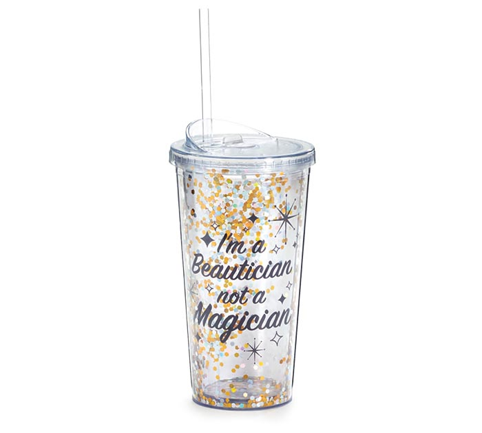 BEAUTICIAN NOT A MAGICIAN TRAVEL CUP