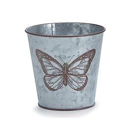 LARGE BUTTERFLY ON GALVANIZED POT COVER