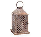 BROWN TEXTURED METAL LANTERN