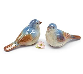 BLUEBIRD CERAMIC FIGURINE PAIR