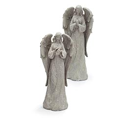 ANGEL STONE LOOK FIGURINE ASTD
